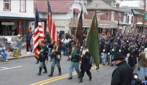 civil war re-enactors - parade